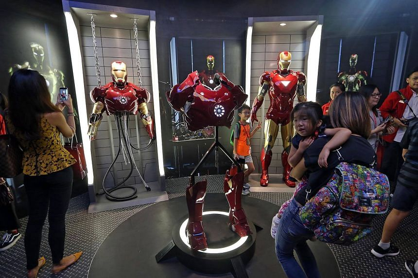 Launch of the new Marvel 4D Experience and Marvel exhibits at Madame Tussauds Singapore, at Sentosa, on Dec 14, 2017.