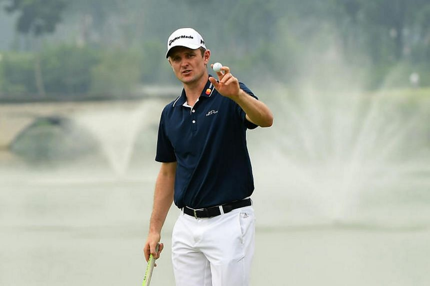 England's Justin Rose notched up a bogey-free scorecard and bagged 10 birdies to take pole position in the Asian Tour's season-ending event.