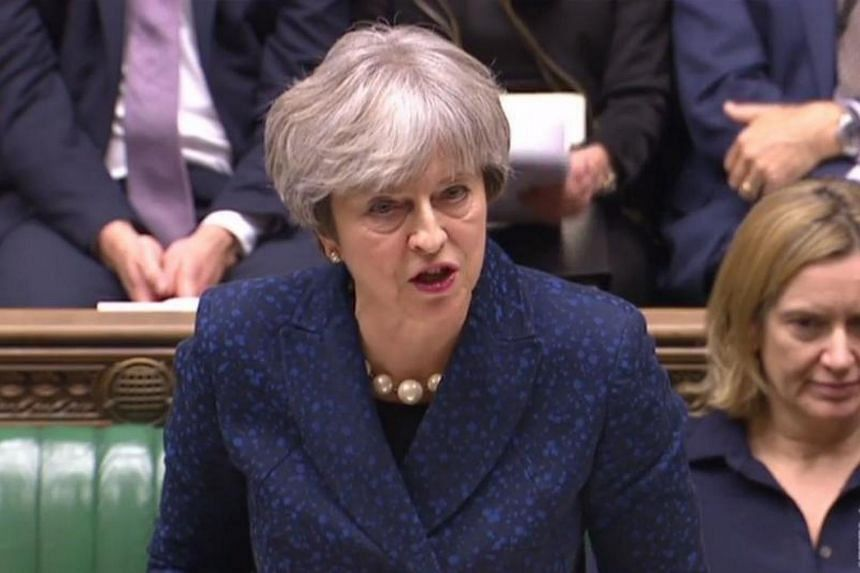 British PM Theresa May speaking to lawmakers regarding the Brexit negotiations, in the House of Commons in London on Dec 11, 2017.