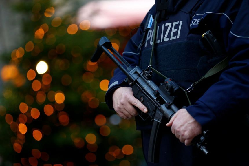 German police raided nine locations over suspicions of a planned attack by extremists, on Dec 14, 2017.