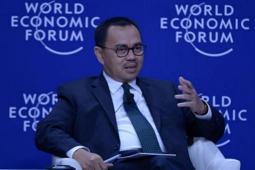Former Indonesian minister Sudirman Said at the World Economic Forum on East Asia in Jakarta on April 21, 2015.