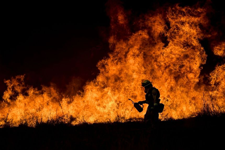The Thomas Fire has blackened almost 100,000 hectares since it broke out ten days ago, making it the fourth-largest blaze in California's history.