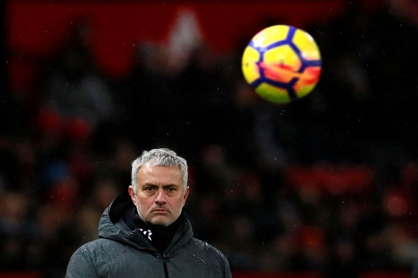 During a pre-match news conference, Mourinho questioned City players' ability to stay on their feet.