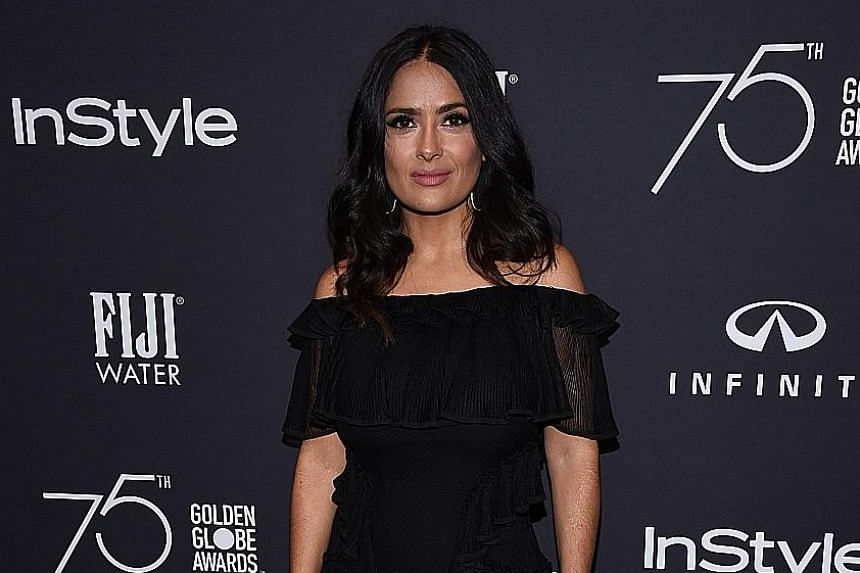 In an essay published in The New York Times, actress Salma Hayek (above) talked about her painful dealings with Harvey Weinstein over the production of the 2002 movie Frida.