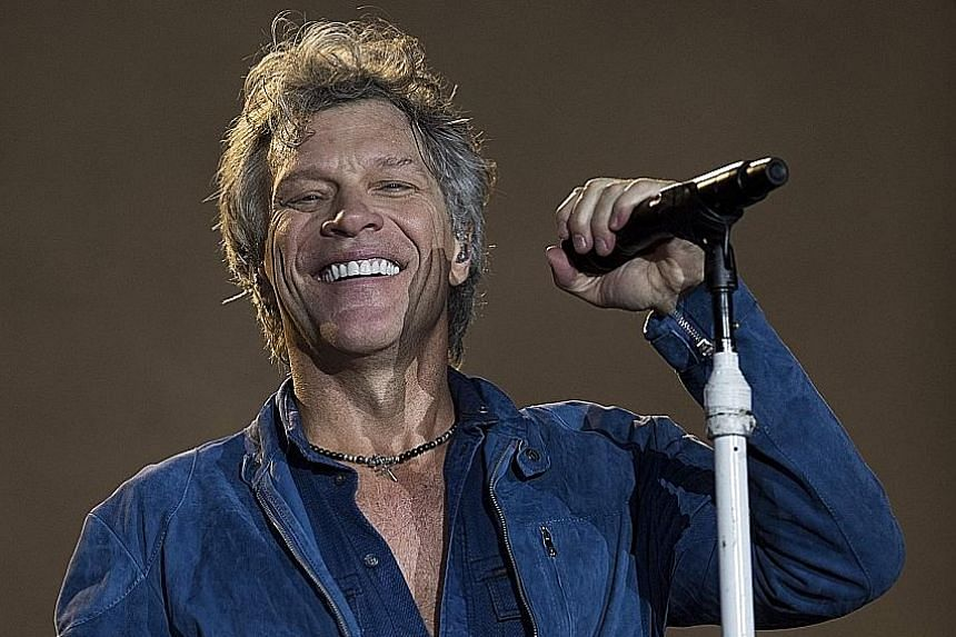 Singer Jon Bon Jovi (above) and his band Bon Jovi launched their self-titled debut in 1984.