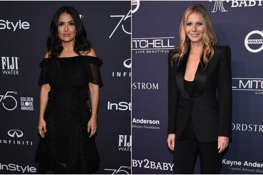 Actresses who have spoken out against sexual harassment include Salma Hayek (left) and Gwyneth Paltrow.