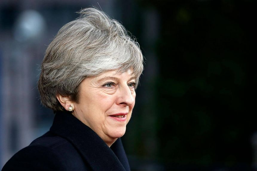 Britain's PM Theresa May at the first day of a European union summit in Brussels, on Dec 14.