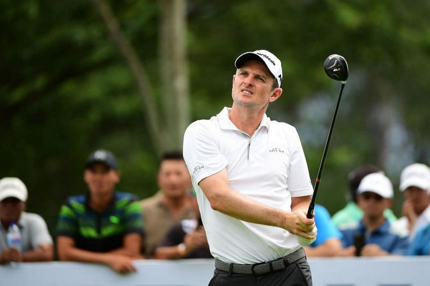 England's Justin Rose was on an aggregate score of 14-under through 16 holes on day two before play was abandoned due to fading light.