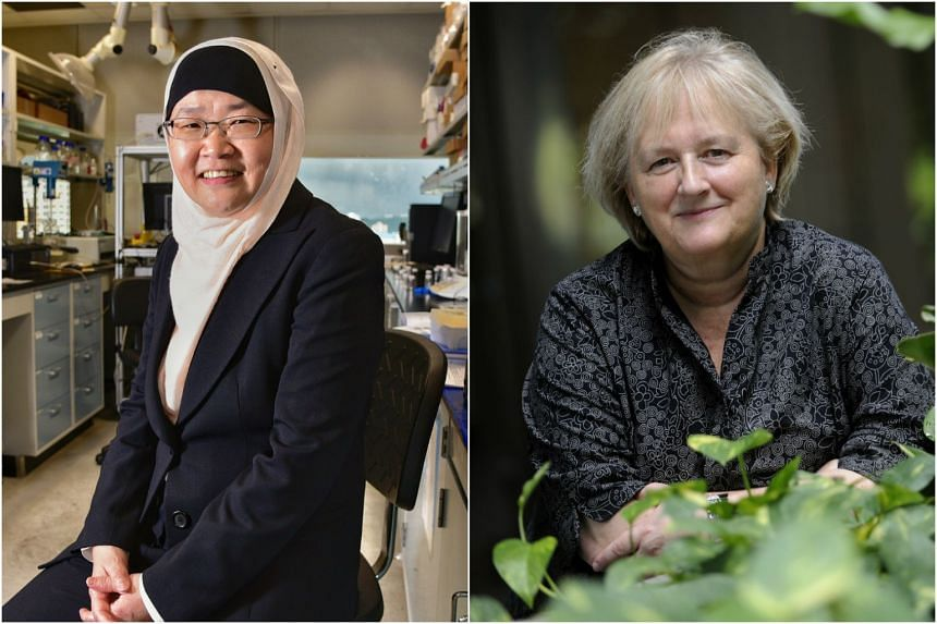 Professor Jackie Ying (left), executive director of the Institute of Bioengineering and Nanotechnology, and Professor Birgitte Lane (right), head of the Institute of Medical Biology, will step down on March 31 next year (2018).