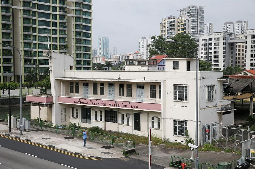 The former National Aerated Water Co building in Serangoon Road will be conserved.