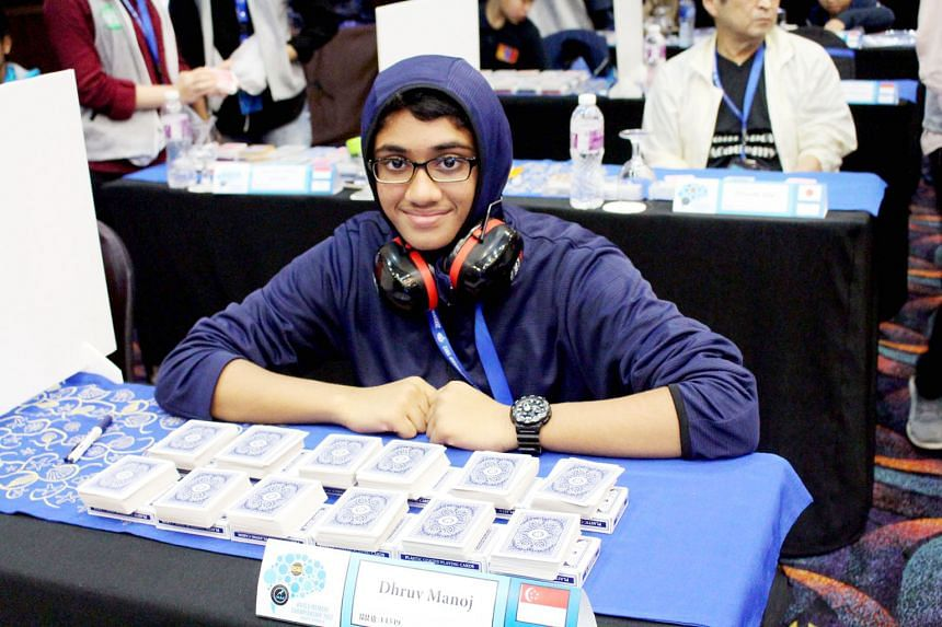 "Dhruv Manoj from Sembawang Primary School set a new age group record in the ""names and faces"" category in the World Memory Championships in Jakarta earlier this month. The 111 competitors in this year's championships took part in 10 events each, in w"