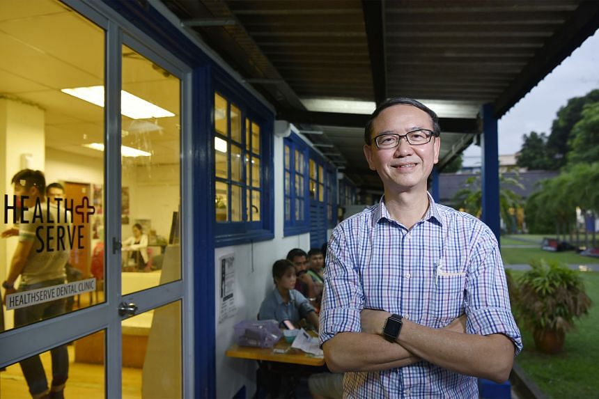 Dr Goh Wei Leong outside the HealthServe clinic at 1 Lorong 23, Geylang. The non-governmental organisation has dental and medical clinics in Geylang, Mandai and Jurong catering to migrant workers. It also provides social assistance to those in distre