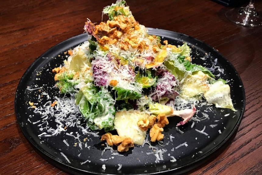 Kikorangi Blue Cheese Caesar Salad.