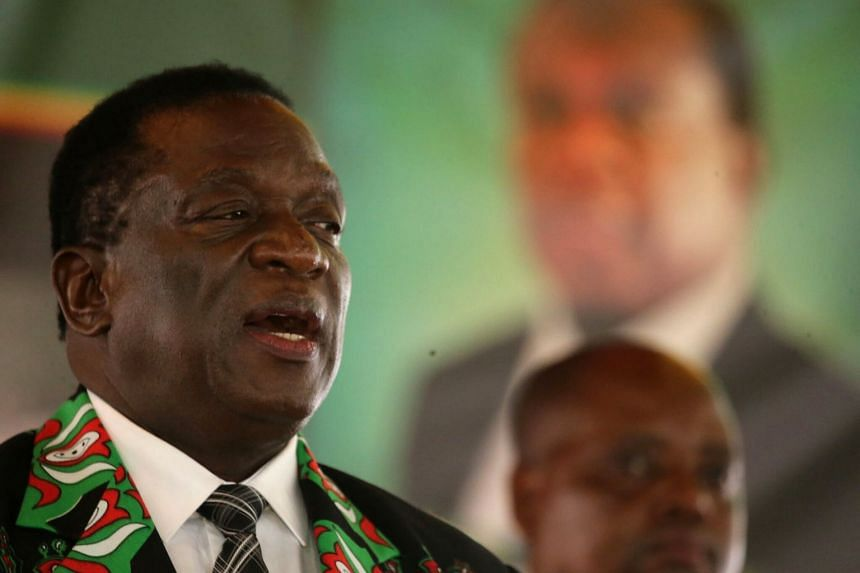 Emmerson Mnangagwa arrives to officially open the extraordinary congress of the ruling Zanu-PF party.