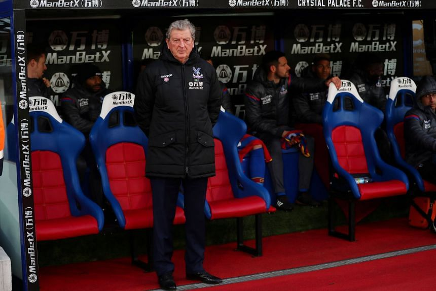 Crystal Palace manager Roy Hodgson before the English Premier League match against Bournemouth at Selhurst Park, London on Dec 2, 2017. The game ended 2-2.