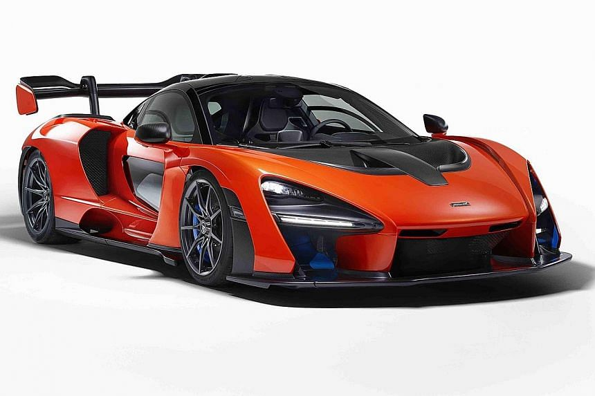 McLaren Senna race car (above).