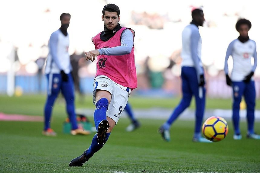 Chelsea striker Alvaro Morata missed the midweek win over Huddersfield due to injury but he is in contention to start the home clash against 11th-placed Southampton. The Blues are 14 points behind leaders Manchester City.
