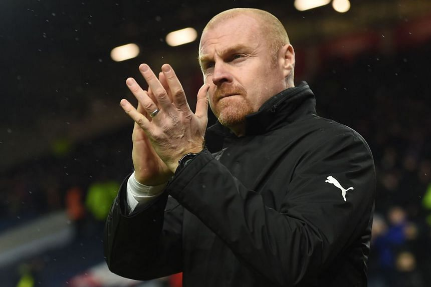 Burnley's English manager Sean Dyche arriving for the English Premier League football match between Burnley and Stoke at Turf Moor in Burnley, north-west England on Dec 12, 2017. Burnley won 1-0 - their third win in the last five EPL games.