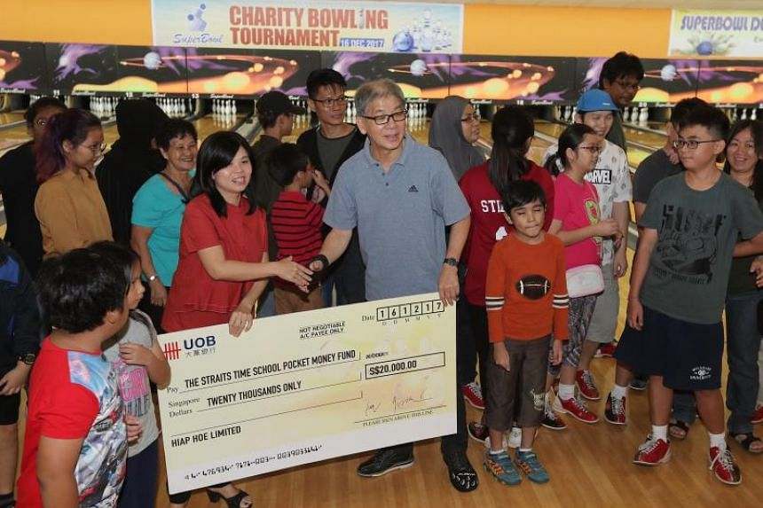 Hiap Hoe Limited, SuperBowl Holdings Limited and their corporate clients have raised $20,000 for ST School Pocket Money Fund (STSPMF).