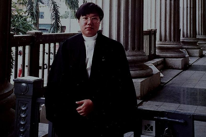 The infant Ms Chia in the arms of her mother, who suffered from mental illness and was a suspicious and superstitious woman. Ms Chia when she graduated in 1990. She landed a pupillage with Harry Elias Partnership, and says she owes a lot to the firm'