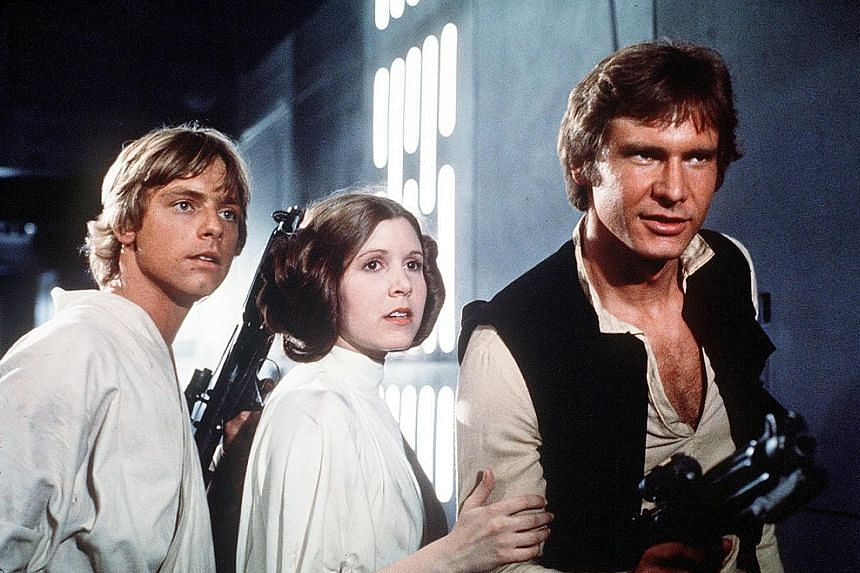 Princess Leia, seen here with Luke Skywalker (left) and Han Solo, came to the Rebel Alliance primarily via her family's politics and rose to the rank of general. Rogue One teaches viewers up front that the rebellion is built upon unsung and often imp
