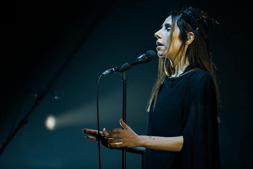 British singer-songwriter PJ Harvey put on a mesmerising set.