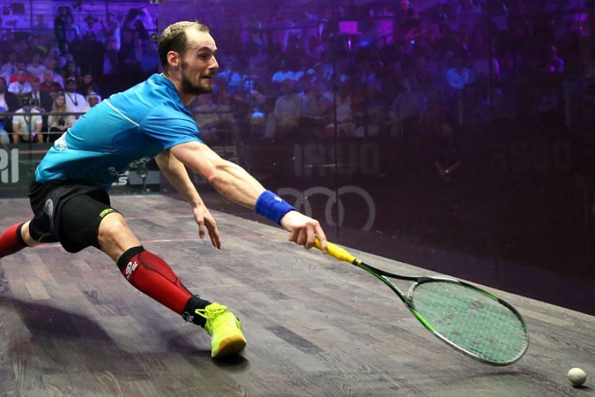 French top seed Gregory Gaultier (above) was denied the chance of becoming the oldest ever men's world champion after losing to Egyptian Mohamed El Shorbagy on Dec 16, 2017.