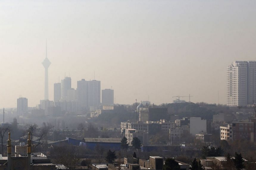 A blanket of smog has covered neighbourhoods in Teheran in the past few days.