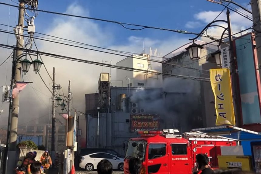 It took about five hours to extinguish the fire at the establishment in Saitama.