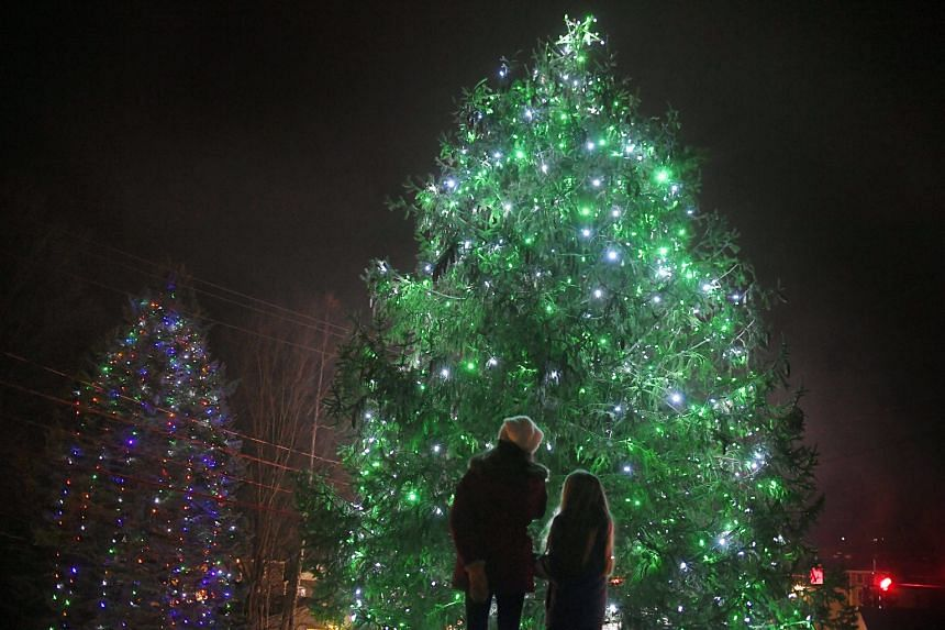 These lighted trees are a beacon of hope in Newtown, Connecticut in the US, where a gunman killed 20 pupils and six adults at a school five years ago.