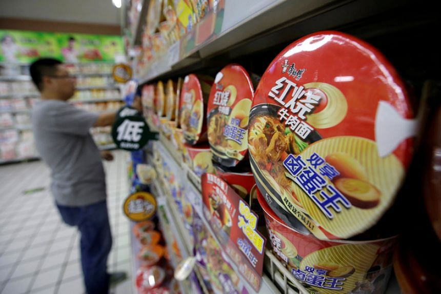 Tingyi, which makes and sells Master Kong instant noodles, had a revenue slump in its instant noodle business from US$4.3 billion (S$5.8 billion) in 2013 to US$3.2 billion in 2016.