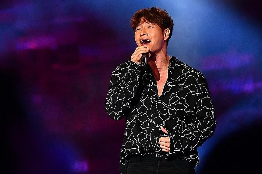 At the Asian Television Awards, Kim Jong Kook (above) performed two Korean songs.