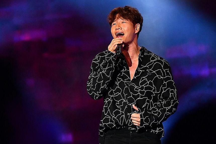 At the Asian Television Awards, Kim Jong Kook (above) performed two Korean songs.