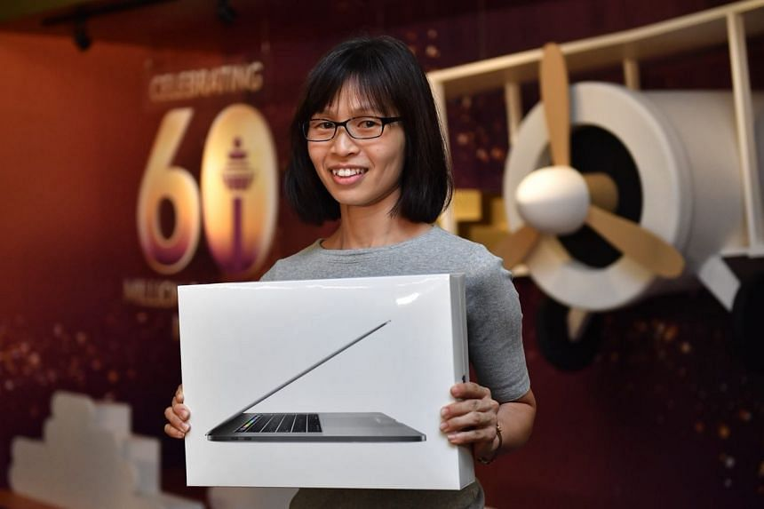 45-year-old housewife Ang Bee Leng clinched first place in the competition, winning a trip to Jaipur, India, as well as a suite of Apple products.