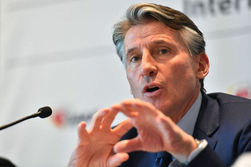 IAAF president Sebastian Coe addressing a press conference in Monaco on Nov 26, 2017. Russia has been banned from international athletics competition since November 2015 after doping issues.