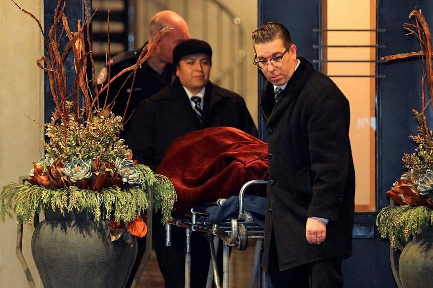 One of two bodies being removed on Dec 15 from the home of pharmaceutical firm Apotex founder Barry Sherman and his wife Honey.