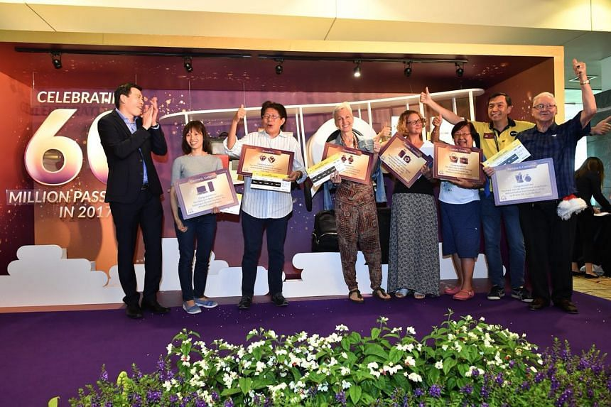 Six passengers were selected to take part in a quiz, in which they stood to win prizes such as leather goods and jewellery.