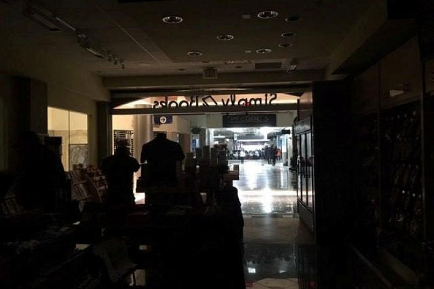The Atlanta's airport is pictured during the power outage, in Atlanta, US on Dec 17, 2017.