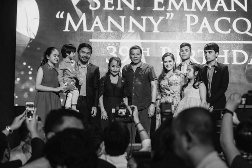 Speaking at Senator Manny Pacquiao's 39th birthday bash in Manila on Dec 17, Philippine President Rodrigo Duterte said the boxing champion was capable of becoming the country's next president.