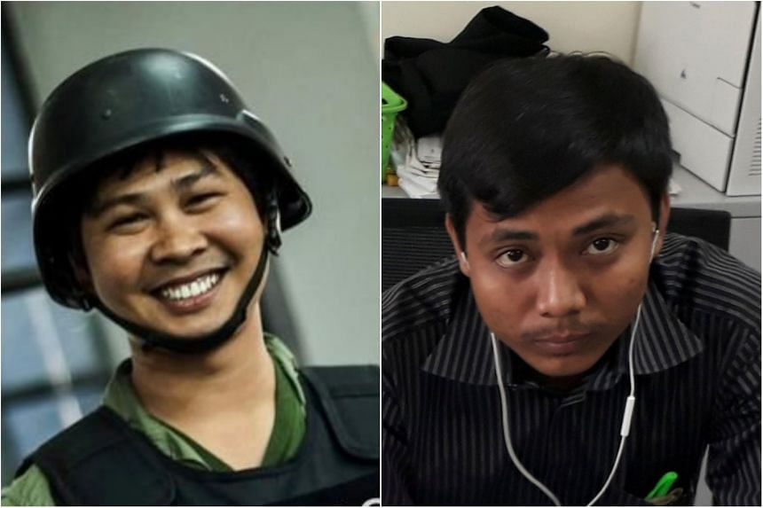 Myanmar's Ministry of Information said last week that journalists Wa Lone (left) and Kyaw Soe Oo were being investigated under the 1923 Official Secrets Act.
