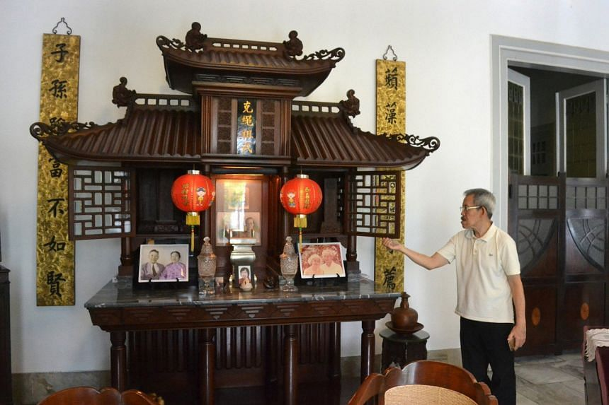 Widayat Basuki Dharmowiyono, who runs Margo Redjo, showcases the family altar. An Indonesian of Chinese descent, his ancestors came from Fujian, China.