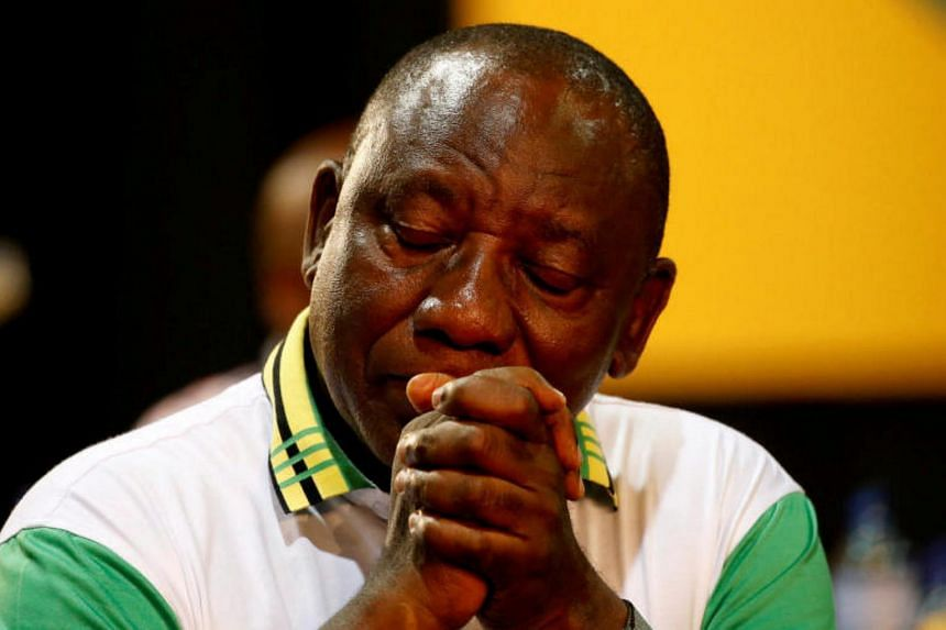 South African deputy president Cyril Ramaphosa was narrowly elected head of the African National Congress on Dec 18.