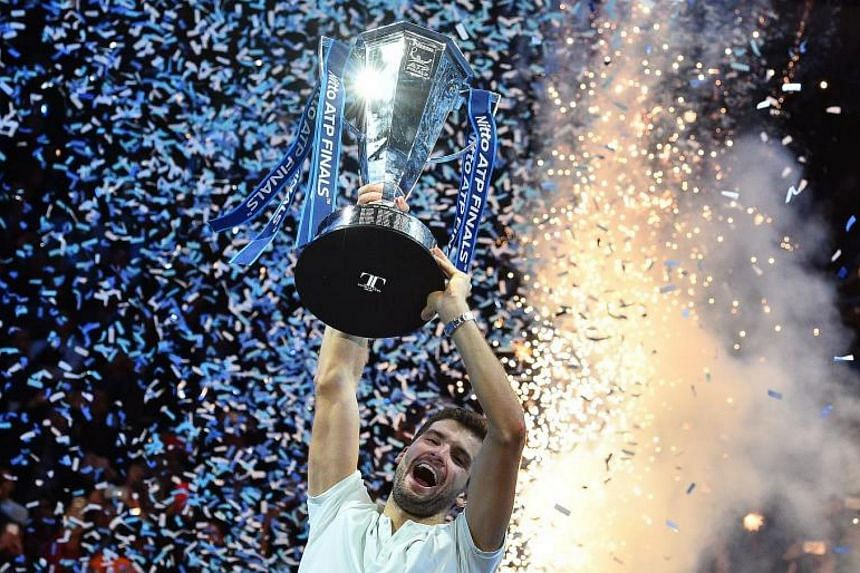 Bulgaria's world No. 3 tennis player Grigor Dimitrov won the biggest title of his career when he captured the season-ending ATP Finals in London last month.