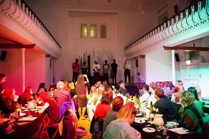 Fat Macy's, a social enterprise using London's love of dining is run by volunteers living in temporary housing and pops up in different venues around London.