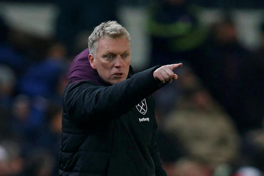 West Ham United manager David Moyes in Stoke-On-Trent, Britain on Dec 16, 2017.