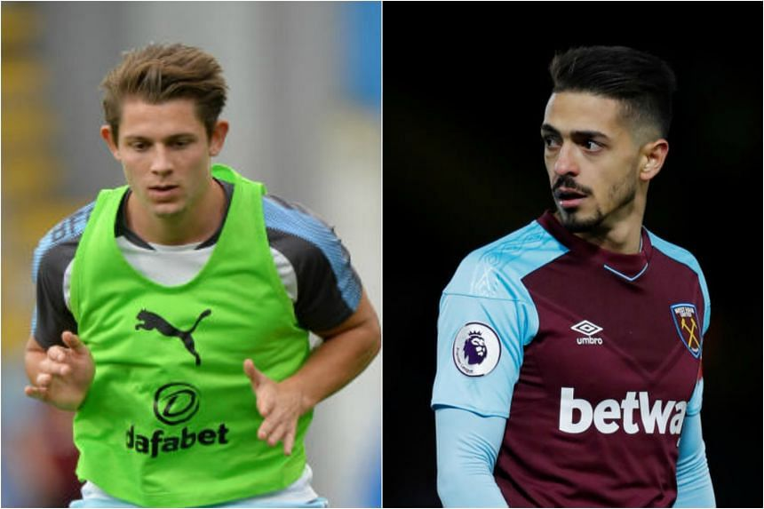 Burnley defender James Tarkowski (left) appeared to elbow Brighton and Hove Albion striker Glenn Murray in the ribs in the 0-0 league draw while West Ham's Manuel Lanzini (right) had deceived a match official during Premier League game against Stoke
