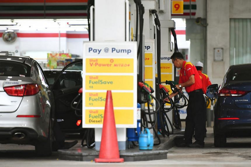 A pump attendant at a Shell petrol station in Toa Payoh on Dec 19, 2017.