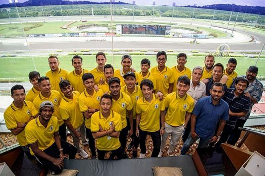 The Tampines Rovers squad at the Singapore Racecourse at Kranji on Nov 12 2017.