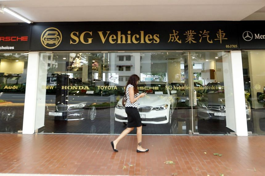 Parallel car importer SG Vehicles showroom and office at Bukit Merah.