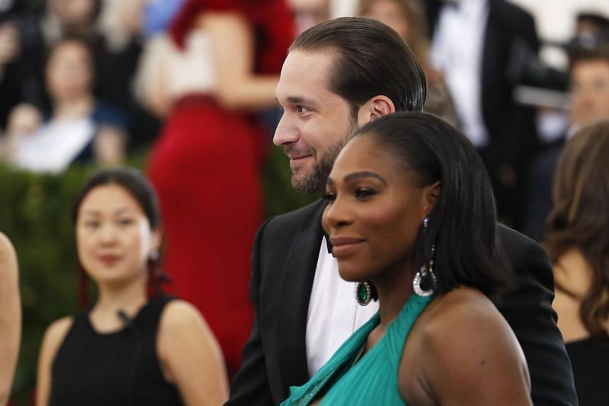 Serena Williams and Alexis Ohanian attending an event in May 2017.